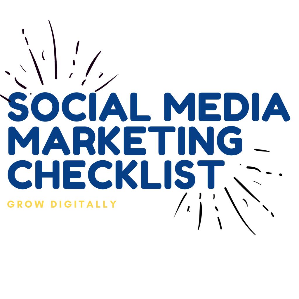 Social Media MARKETING CHECKLIST (2)